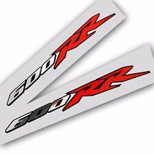 600RR Motorcycle decals graphics stickers silver chrome and red on black