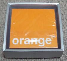 ORANGE MOBILE NETWORK SEALED PACK OF SQUARE PLAYING CARDS IN A CERAMIC BOX