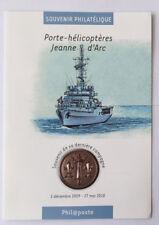 Souvenir philatélique Porte-Hélicoptères Jeanne d'Arc oblitéré 1er jour