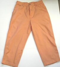 Chadwicks Orange Cropped Jeans 100% Cotton 5 pocket sz 10, Inseam 21in
