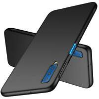 For Samsung Galaxy A7 (2018) Case Ultra Slim Hard Back Cover - Matte Black