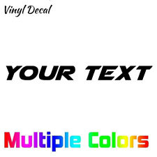 Custom Text Decal - Personalized Your Text vinyl die cut sticker AIRSTRIKE Font