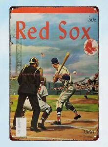 1960 Boston Red Sox Yearbook tin sign wall art shopping