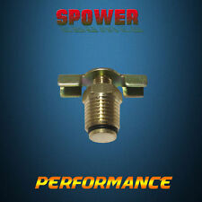 Copper Brass Needle Radiator Drain Plug Cock External Seat 1/4-18 NPT 1 PCS
