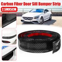 2.5M 5cm Car Carbon Fiber Rubber Door Sill Protector Edge Guard Strip Sticker