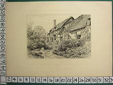 1885 PRINT STRATFORD-ON-AVON ~ ANNE HATHAWAY'S COTTAGE AT SHOTTERV