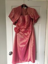 Mother Of the Bride Green Dress & Bolero Jacket Size 16 Bella Rosa