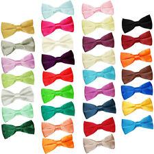 Premium Satin Solid Plain Dickie Business Adjustable Pre-Tied Men's Bow Tie
