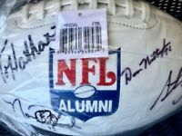 OFFICIAL NFL AUTHENTIC ALUMNI PLAYERS AUTOGRAPHED FOOTBALL (WHITE) 28 SIGNATURES
