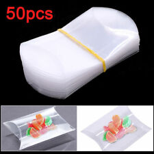 50Pc PVC Plastic Pillow Style Candy Box Sweet Wedding Party Chocolate Gift Decor