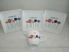 Rae Dunn Best Mother Ever Plate and Creamer Lot Flower Mother's Day Series