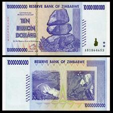 10 BILLION ZIMBABWE DOLLAR, 2008, AUNC. MONEY CURRENCY [TRILLION 20 50 100]