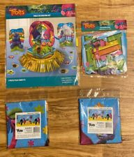 Trolls Table Decorating Kit 23pc/ Two Tablecloths/ Birthday Banner-B5