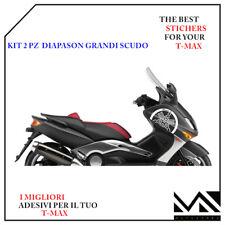 Serie 2 Adesivi Diapason Scudo anteriore per Yamaha T-max Tmax 500 01-07 Blu