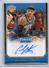 Carmelo Anthony 2016-17 Panini Threads Autograph Auto - NY KNICKS / OKC THUNDER