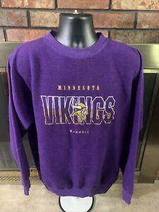 Vintage MINNESOTA VIKINGS NFL FOOTBALL Crewneck Sweatshirt Mens XL Riddell Vtg