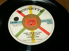 VALERIE CARR - WHEN THE BOY TALK ABOUT THE GIRLS - PADRE  / LISTEN -  GIRL