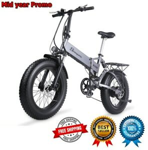 Electric Mountain Bike EBike Folding 48v Fat Tire Men Women Beach E-Bicycle 2021