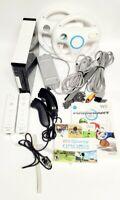 Nintendo Wii Console Mario Kart Bundle Wii Sports 2 Controllers 2 Wheels RVL-001