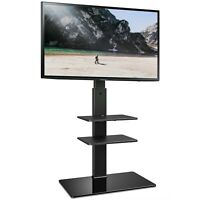 """Universal TV Stand with Swivel Mount for 32-65"""" Flat Curved Screen TV"""