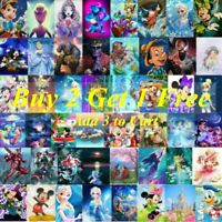 5D Full Drill Diamond Painting Kits DIY Film Cartoon Character Embroidery Decors