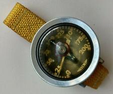 VINTAGE YCM SCUBA DIVE DIVING DEPTH GAUGE COMPASS strap wrist WATCH JAPAN
