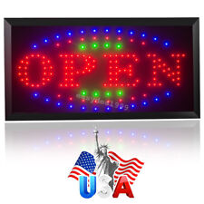 High Visible Led Light Flash Motion Business Open Sign Chain Switch 25*48 3Color