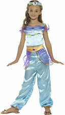 Girls Kids Arabian Princess Fancy Dress Bollywood Aladdin Genie Costume 4-12