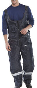 Click Coldstar Freezer Bib Insulated Trousers With Kneepad Pockets - Ccfbt