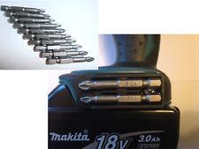 MAKITA TRAPANO Impact Driver portapunte + torsione 10pcs S2 ANTI SCIVOLO PZ2 Pozi Set