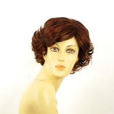Perruque femme courte Châtain Cuivré Méché Blond Clair/rouge MATHILDE 33H130