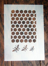 Bee Honeycomb Stencil Mask Reusable PP Sheet for Arts & Crafts