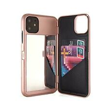 Wallet With Mirror Back Cover Dual Layer Flip Case for iPhone SE2 XS Max XR X 6