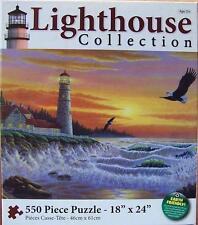 KARMIN JIGSAW PUZZLE GUIDING LIGHT MICHAEL MATHERLY 550 PCS LIGHTHOUSE #1294-7