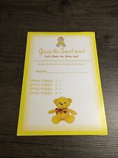 Baby Shower / Guess The Sweet Mess / Unisex / Party Game 20 Playing Sheets