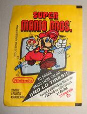 SUPER MARIO BROS.  stickers cards unopened pack ARGENTINA 1993 NINTENDO