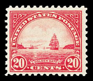 Scott 567 1923 20c Golden Gate Perf 11 Flat Plate Issue Mint F-VF OG LH Cat $16