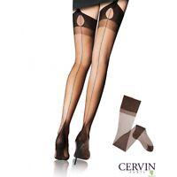 Cervin - Bas nylon vintage FF en nylon à couture référence Tentation