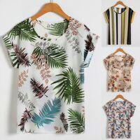 Women's Plus Size NECK T-Shirt Short Sleeve T-Shirt Ladies Baggy Top Blouse