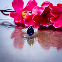 Lovely African Amethyst Cut Gemstone 925 Sterling Silver Handmade Ring All Size