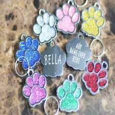 NEW 2020 diamond paw tag cat collar leash id tag pet tags engraved personalized