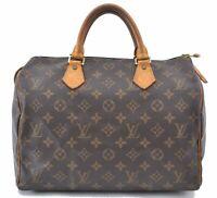 Authentic Louis Vuitton Monogram Speedy 30 Hand Bag M41526 LV A8871