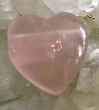 Rosenquarz Herz - gebohrt -