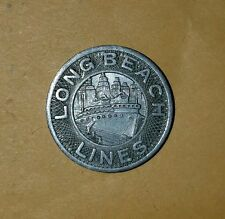 Long Beach Lines, Good For One Fare Token Transportation Bus, coin circulated