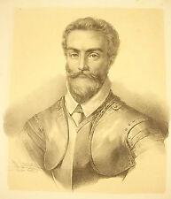 Lithography D'Henri Grevedon 1823: Antoine of Brichanteau Marquis of Nangis