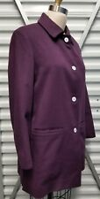 CASHMERE made in ITALY PIACENZA COAT 100% Quality Soft Warm size 44