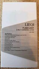 Lieqi HD 0.4x Flash Light 3 in 1 Camera Lens LQ-035– 2 Color