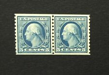 mystamps  US 496, 5 cent Washington 1919 Coil Line Pair, MNH Certified