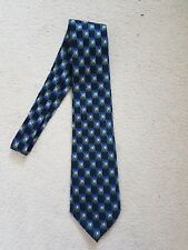 Marks And Spencer Blue Check Pattern Multi Colour Tie
