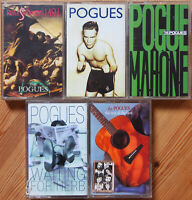 5x THE POGUES CASSETTE TAPES SHANE McGOWAN FOLK PUNK NEW WAVE IRISH LOT VG+